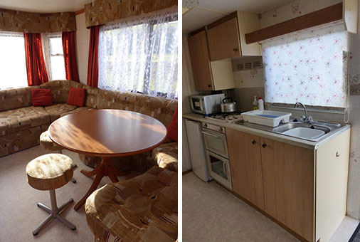 Inside our holiday caravans