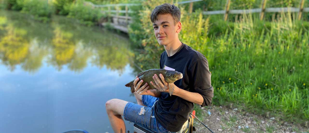 Touring and Camping at Luccombes Fishery